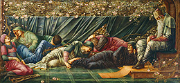 The Council Chamber (detail) - Edward Burne-Jones (1833-1898)